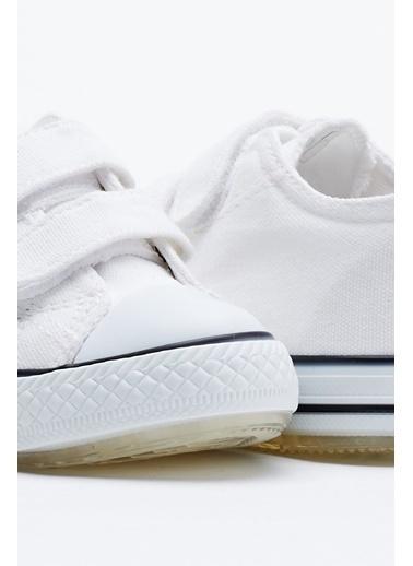 Tonny Black Beyaz Çocuk Spor Ayakkabı Işıklı Cırtlı Tb997 Beyaz